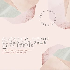 HUGE CLOSET SALE • tons of home items reduced